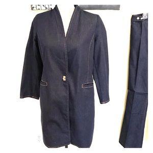 Chico's long denim tunic jacket Size 0